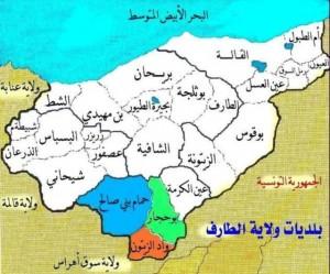 خريطة ولاية الطارف